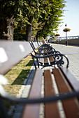 Danube promenade in Bratislava, Slovakia