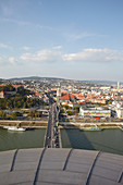 View from the UFO observation deck of the city of Bratislava, Bratislava, Slovakia