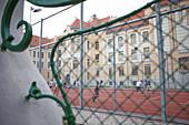 Hockey player in Bratislava, Slovakia