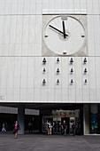 Clock with carillon in Bratislava, Slovakia