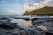 Coast at the Eiði campsite, Eysturoy; Faroe Islands.