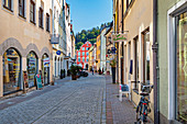 Schirmgasse in the old town of Landshut, Bavaria, Germany