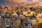 Blick auf Birgu, La Valetta, Malta