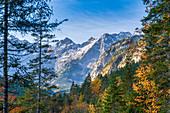 Herbst im Karwendel, Hinterriss, Tirol, Österreich