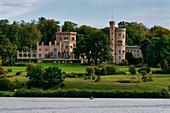 Havel, Tiefer See, Babelsberg Palace, Babelsberger Park, Potsdam, Brandenburg State, Germany