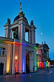 Fortunaportal, City Palace, Landtag Brandenburg, lighting for the 30th Day of German Unity, Potsdam, Land Brandenburg, Germany