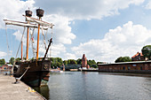 Lisa von Lübeck is a wooden motor sailing ship and makes trips in the Hanseatic city of Lübeck in Schleswig-Holstein, Germany