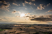 View from the balloon over Oldenburg to the Hohwachter Bay, Baltic Sea, Ostholstein, Schleswig-Holstein, Germany