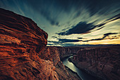 Horseshoe Bend during thunderstorm, Arizona, USA, North America