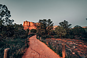 Path between rocks in Sedona, Arizona, USA, North America, America