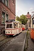 historic tram at Naumburger Straßenbahn GmbH, Naumburg an der Saale, Saxony-Anhalt, Germany, Europe