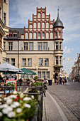 Historische Gebäude in der Altstadt, Lutherstadt Wittenberg, Sachsen-Anhalt, Deutschland, Europa