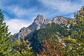 View of the Falkengruppe, Hinterriß, Karwendel, Tyrol, Austria