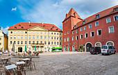 Haidplatz in Regensburg, Bavaria, Germany