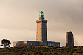 Old and new lighthouse at Cap Frehel in the morning light, Brittany, France