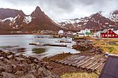 Fishing village Mefjordvaer on Senja island, Norway