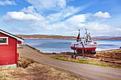 Fischerdorf Hamn auf Insel Senja, Norwegen