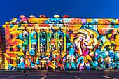 Festival of lights Berlin 2020, Bebelplatz, Hedwigskirche, Hotel de Rome, Berlin, Germany