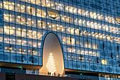Elbphilharmonie at the blue hour, HafenCity, Speicherstadt, Hamburg, Germany, Europe