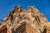 Notre-Dame Cathedral, west facade, UNESCO World Heritage Site, Reims, Champagne, France