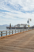 Deserted Stearns Wharf in Santa Barbara, California, USA: