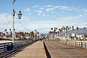 Stearns Wharf in Santa Barbara, California, USA: