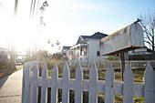 Mailbox on a residential street in Carpinteria, Santa Barbara, California, USA.