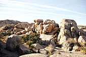 View of a rock formation in Joshua Tree Park, California, USA.