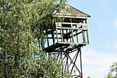 Derelict watchtower in the Danube Delta, Canalul Bracliva, Mila 23, Tulcea, Romania.