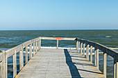 Jetty on the Black Sea coast at the mouth of the Danube / Danube Delta, Sulina, Tulcea, Romania.