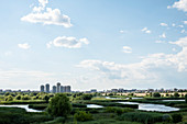 Bucharest, Romania. The Văcăreşti Nature Park and Lake is located in the city. Nicolae Ceausescu wanted to create a reservoir here. In the meantime nature has reclaimed the swamp area. The biodiversity corresponds to a small river delta with 96 bird species.