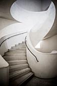 Spiral staircase, Museum Unterlinden, Musée Unterlinden, new building by the architects Herzog and de Meuron, Colmar, Alsace, France