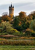 Babelsberger Park, Kindermannsee, Flatowturm, Hofgärtnerhaus, Potsdam, Land Brandenburg, Deutschland