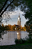 Deep lake of the Havel, senior citizens' residence Heilig Geist, Potsdam, Land Brandenburg, Germany