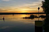 Oder, Frankfurt / Oder, sunrise, view to Poland, Land Brandenburg, Germany