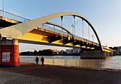 Friedensbruecke, Frankfurt / Oder, view to Slubice in Poland, Land Brandenburg, Germany
