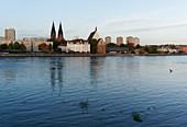 Oder, Frankfurt / Oder, view from Slubice in Poland, Land Brandenburg, Germany