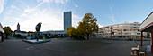 Brunnenplatz, Karl-Marx-Strasse, Marienkirche, Oderturm, Frankfurt / Oder, State of Brandenburg, Germany