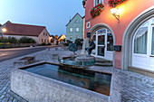 Fountain in the old town of Rödelsee, Kitzingen, Lower Franconia, Franconia, Bavaria, Germany, Europe