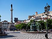 Rossio Platz, Platz des Don Pedro IV, Lissabon, Portugal, Europa