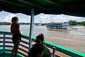 Amazon steamers on the Amazon, Amazon Basin, Brazil, South America