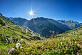 View of Grimsel Pass and Furka Pass, Grimsel Pass, UNESCO World Natural Heritage Jungfrau-Aletsch, Bernese Alps, Switzerland