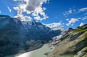 Grossglockner, Johannisberg, Pasterze Glacier and Glacier Lake, Glockner Group, Hohe Tauern, Hohe Tauern National Park, Carinthia, Austria