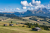 The landscape on the Seiser Alm in South Tyrol, Italy