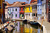 Colorful houses, Burano, lagoon, Veneto, Italy