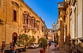 In den Sraßen von Victoria, Mdina, Malta, Europa
