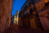 Night stroll on the southern outskirts of Valletta, Malta, Europe