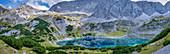 Blick auf den Drachensee, Ehrwald, Mieminger Berge, Tirol, Österreich