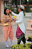 Thailand, Bangkok, couple in formal dress,