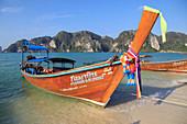Thailand, Krabi, Phi Phi Don Island, landscape, scenery, boat, beach,